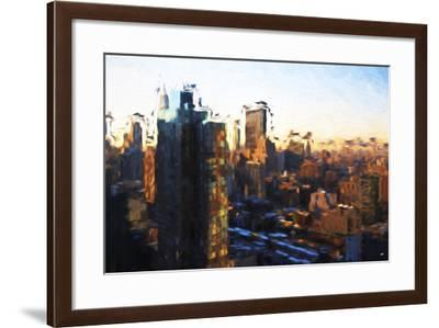New York Morning - In the Style of Oil Painting-Philippe Hugonnard-Framed Giclee Print
