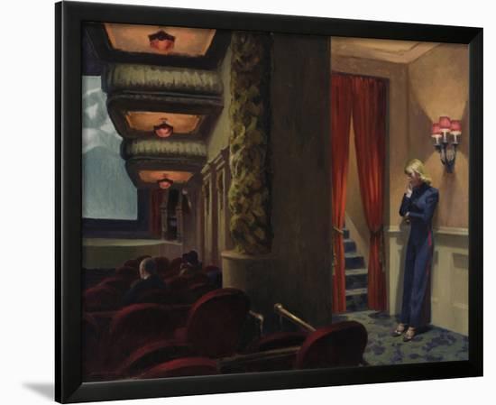 New York Movie, 1939-Edward Hopper-Framed Giclee Print