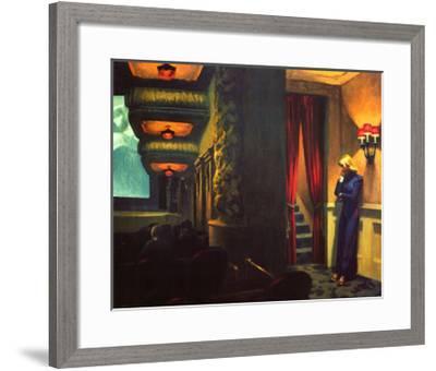 New York Movie-Edward Hopper-Framed Giclee Print