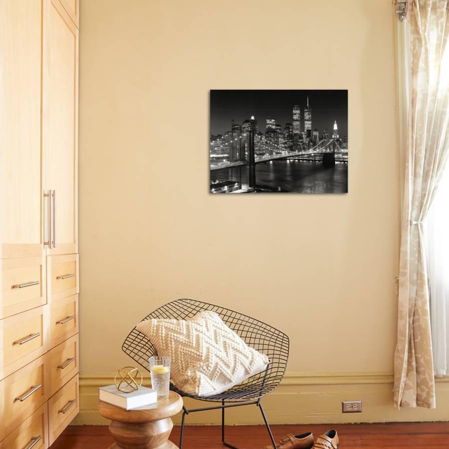 New York, New York, Brooklyn Bridge Art Print by Henri Silberman ...
