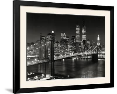 New York, New York - Brooklyn Bridge-Henri Silberman-Framed Art Print