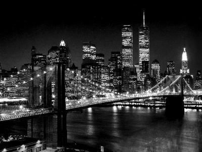 New York, New York, Brooklyn Bridge-Henri Silberman-Art Print