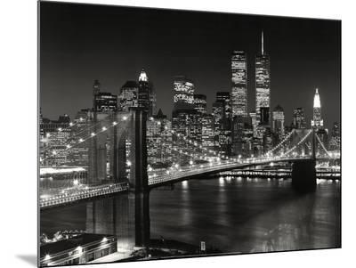 New York, New York, Brooklyn Bridge-Henri Silberman-Mounted Print