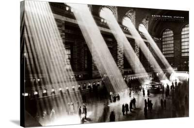 New York, New York - Grand Central Station-Hal Morey-Stretched Canvas Print