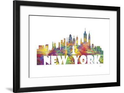 New York New York Skyline Mclr 2-Marlene Watson-Framed Giclee Print
