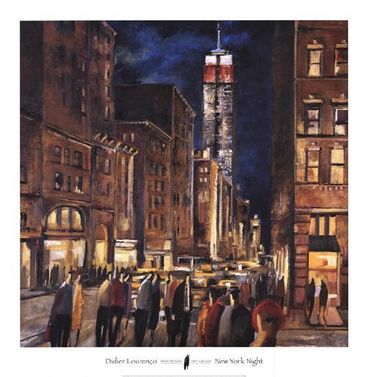 New York Night-Didier Lourenco-Art Print