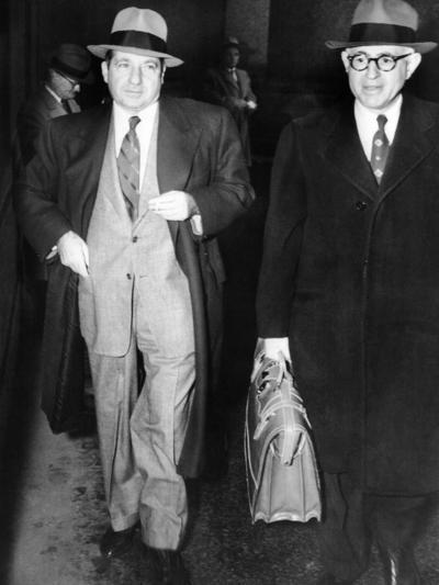 New York Organized Crime Boss, Frank Costello (Left), with His Lawyer, George Wolf--Photo