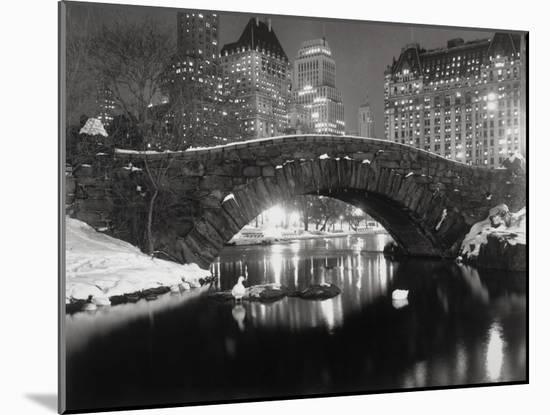 New York Pond in Winter-Bettmann-Mounted Photographic Print