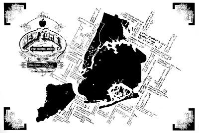 New York Pop Culture Map-Kyle & Courtney Harmon-Serigraph