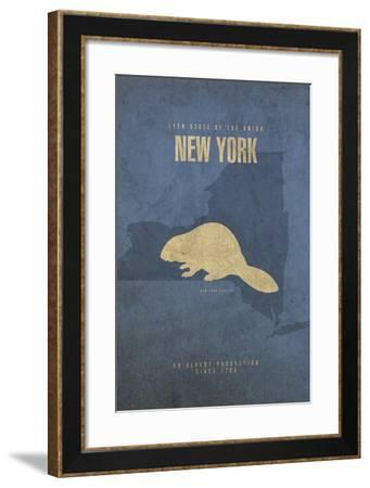 New York Poster-David Bowman-Framed Giclee Print