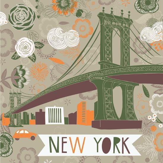 New York Print Design-Lavandaart-Art Print