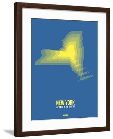 New York Radiant Map 2-NaxArt-Framed Art Print