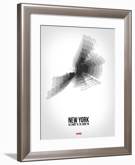 New York Radiant Map 4-NaxArt-Framed Art Print