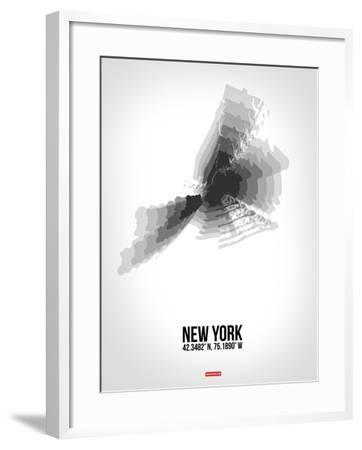 New York Radiant Map 4-NaxArt-Framed Art Print