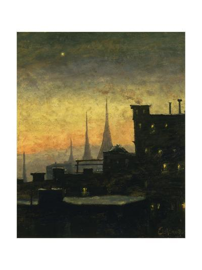 New York Roof Tops-Louis Eilshemius-Giclee Print