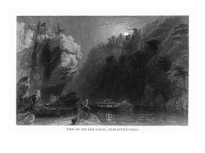 New York, Scenic View on the Erie Canal near Little Falls-Lantern Press-Art Print