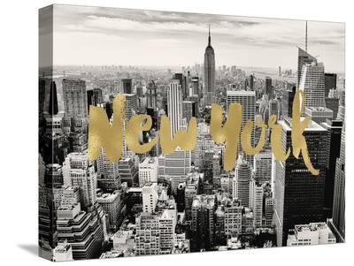 New York Skyline Golden-Amy Brinkman-Stretched Canvas Print