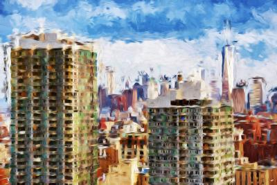 New York Skyline V - In the Style of Oil Painting-Philippe Hugonnard-Giclee Print