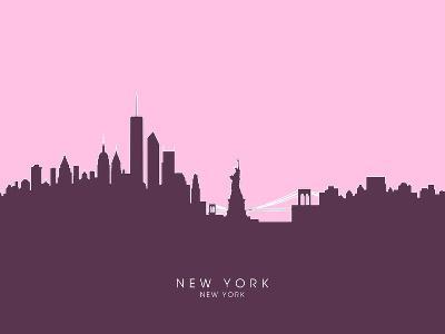 New York Skyline-Michael Tompsett-Art Print