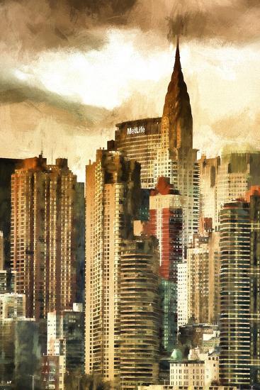New York Skyscrapers II-Philippe Hugonnard-Giclee Print