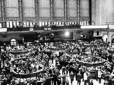 New York Stock Exchange During Heavy Trading on Oct 23, 1962--Photo
