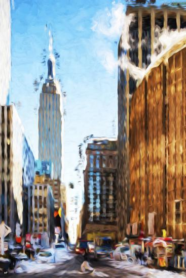 New York Street III - In the Style of Oil Painting-Philippe Hugonnard-Giclee Print