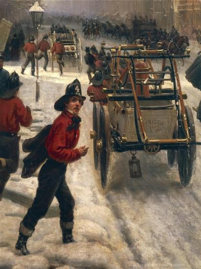 New York Street in 1840 Covered with Snow--Giclee Print
