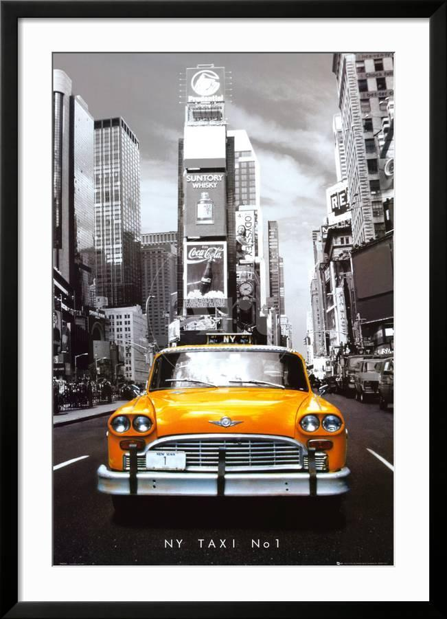 Poster New York Taxi.New York Taxi No 1 Framed Poster By Art Com