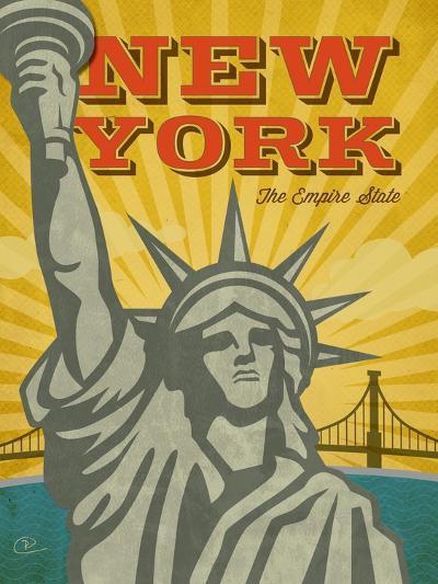 New York – The Empire State-Renee Pulve-Art Print