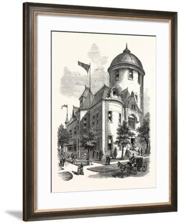 New York: the New Warner Observatory at Rochester. U.S., 1880 1881--Framed Giclee Print