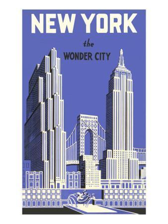 New York, the Wonder City--Premium Giclee Print