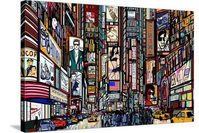New York Times Square Pop Art--Stretched Canvas Print