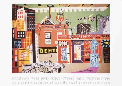 New York Under Gaslight-Stuart Davis-Collectable Print