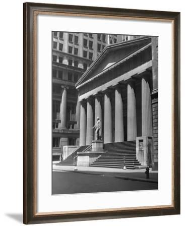 New York, Wall Street, Federal Building-George Marks-Framed Photographic Print