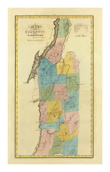 New York, Washington County, c.1829-David H^ Burr-Art Print