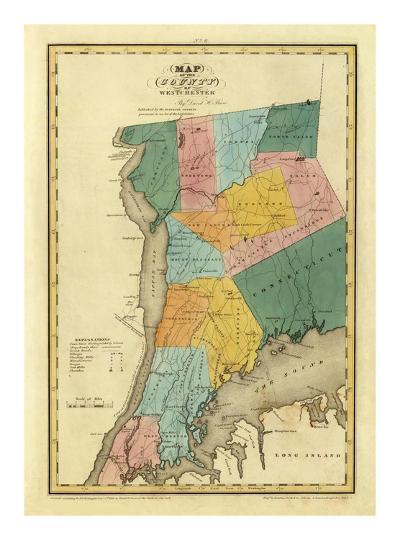 New York, Westchester County, c.1829-David H^ Burr-Art Print