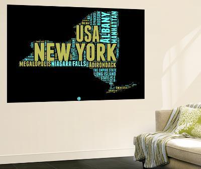 New York Word Cloud 1-NaxArt-Wall Mural