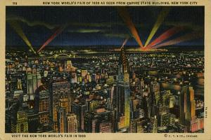 New York World's Fair of 1939 As Seen from Empire State Building