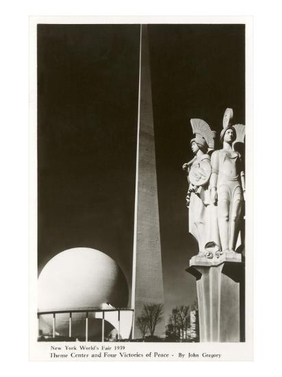 New York World's Fair Statuary, 1939--Art Print