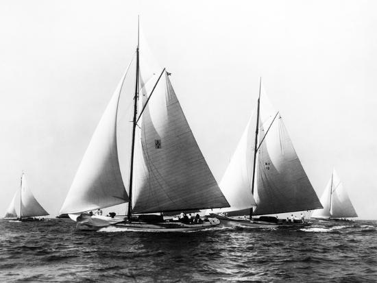 New York Yacht Club Yachts, New York 40'S-Edwin Levick-Photographic Print