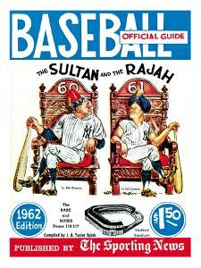 New York Yankees Babe Ruth and Roger Maris - Baseball Guide - January 1, 1962