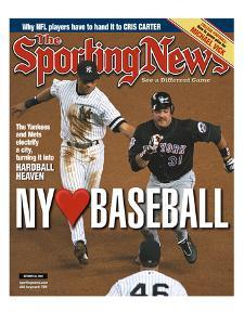 New York Yankees SS Derek Jeter and New York Mets C Mike Piazza - October 30, 2000