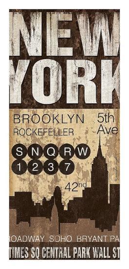 New York-Jennifer Pugh-Art Print