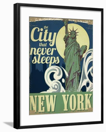 New York--Framed Giclee Print