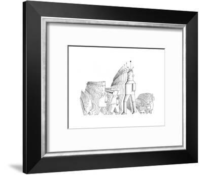 New Yorker Cartoon-Saul Steinberg-Framed Premium Giclee Print