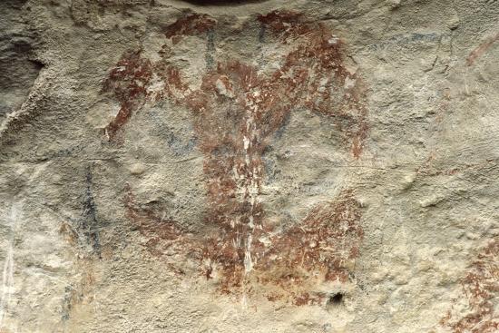 New Zealand, Canterbury, Duntroon, Maori Rock Paintings--Giclee Print
