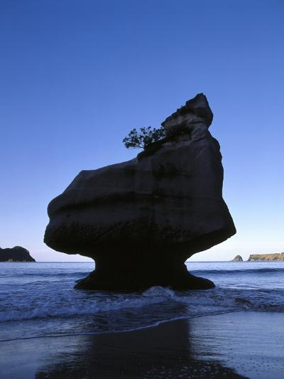 New Zealand, Coromandel Peninsula, Cathedral Cove, Tuff Stone Rock in the Sea-Thonig-Photographic Print