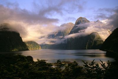 New Zealand Milford Sound During a Storm--Photographic Print