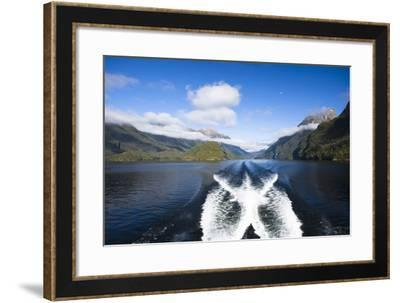 New Zealand's Doubtful Sound, Ferry Crossing Lake Manapouri-Micah Wright-Framed Photographic Print