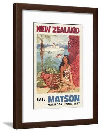New Zealand - Sail Matson-Louis Macouillard-Framed Art Print